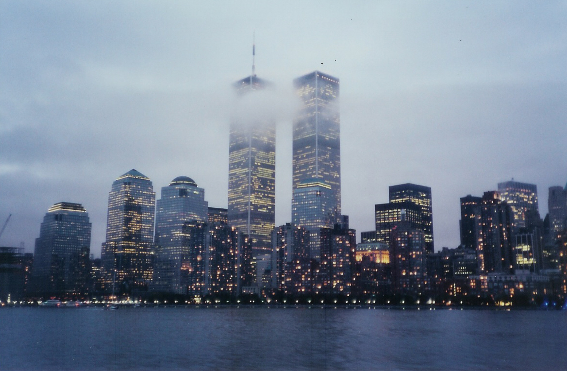 Pre 9-11 Skyline from New Jersey